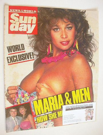 <!--1987-08-02-->Sunday magazine - 2 August 1987 - Maria Whittaker cover