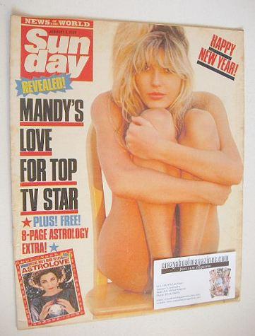 <!--1988-01-03-->Sunday magazine - 3 January 1988 - Mandy Smith cover