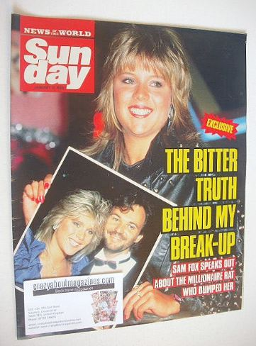 <!--1988-01-17-->Sunday magazine - 17 January 1988 - Samantha Fox cover