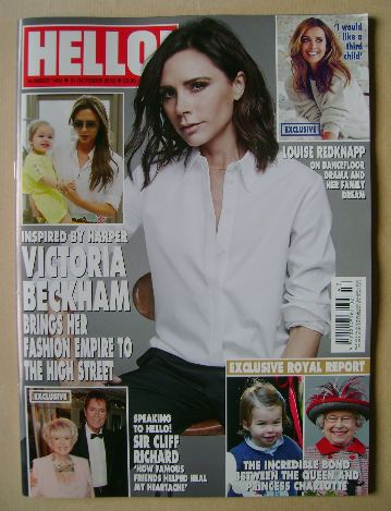 <!--2016-10-31-->Hello! magazine - Victoria Beckham cover (31 October 2016