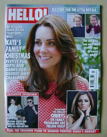 <!--2016-11-28-->Hello! magazine - Kate Middleton cover (28 November 2016 -