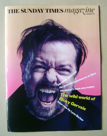 <!--2016-12-04-->The Sunday Times magazine - Ricky Gervais cover (4 Decembe