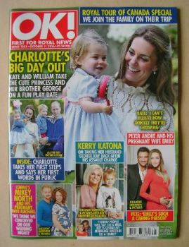 OK! magazine - Kate Middleton and Princess Charlotte cover (11 October 2016 - Issue 1053)
