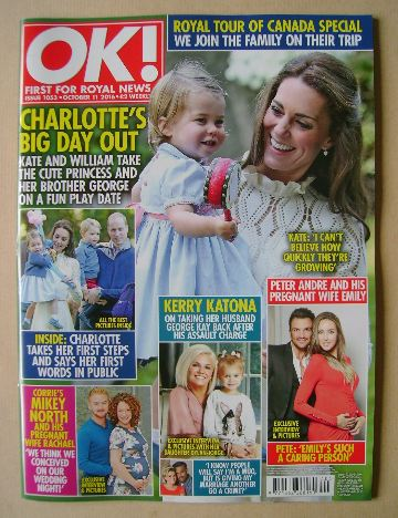 <!--2016-10-11-->OK! magazine - Kate Middleton and Princess Charlotte cover