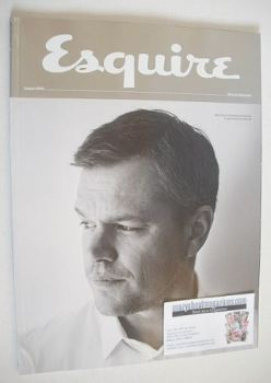 Esquire magazine - Matt Damon cover (August 2016 - Subscriber's Issue)