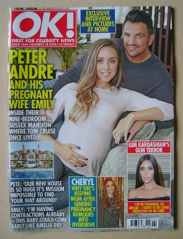<!--2016-10-18-->OK! magazine - Peter Andre and Emily cover (18 October 201