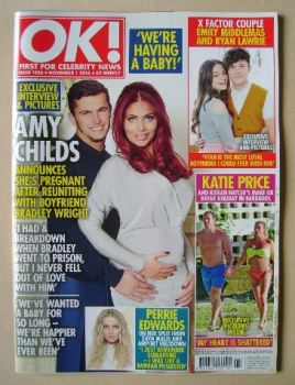OK! magazine - Amy Childs and Bradley Wright cover (1 November 2016 - Issue 1056)