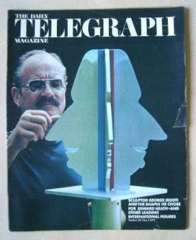 The Daily Telegraph magazine - George Giusti cover (5 May 1972)