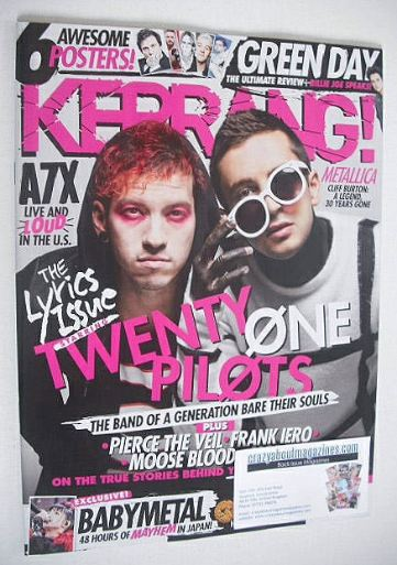 <!--2016-10-01-->Kerrang magazine - Twenty One Pilots cover (1 October 2016