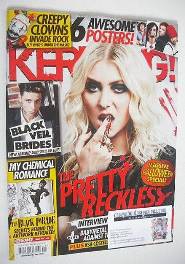 <!--2016-10-29-->Kerrang magazine - The Pretty Reckless cover (29 October 2