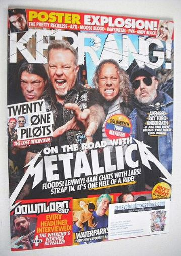 <!--2016-11-12-->Kerrang magazine - Metallica cover (12 November 2016 - Iss