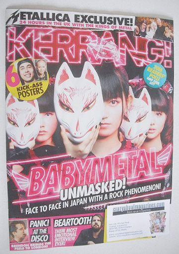 <!--2016-12-03-->Kerrang magazine - Babymetal cover (3 December 2016 - Issu