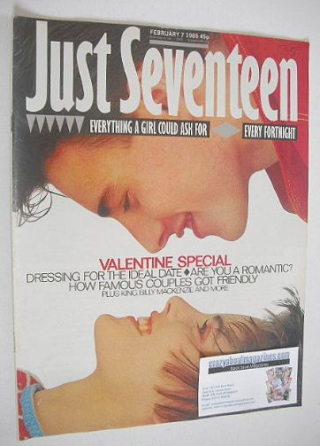 <!--1985-02-07-->Just Seventeen magazine - 7 February 1985