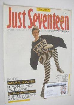 Just Seventeen magazine - 20 February 1985