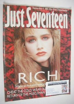 Just Seventeen magazine - 11 September 1985