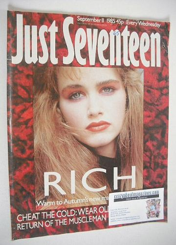 <!--1985-09-11-->Just Seventeen magazine - 11 September 1985