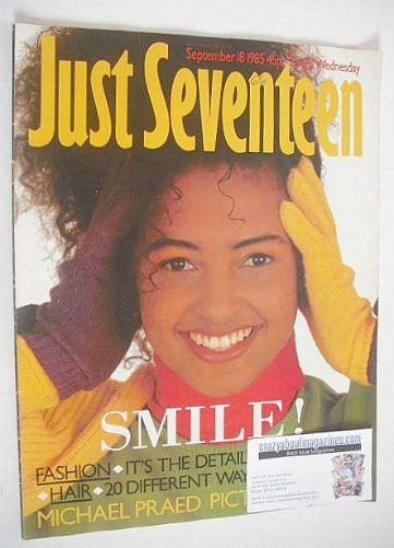 <!--1985-09-18-->Just Seventeen magazine - 18 September 1985