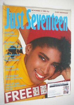 Just Seventeen magazine - 27 November 1985