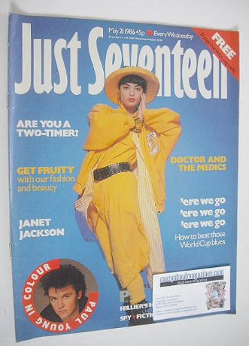 <!--1986-05-21-->Just Seventeen magazine - 21 May 1986