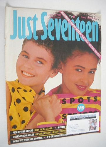 <!--1986-06-25-->Just Seventeen magazine - 25 June 1986