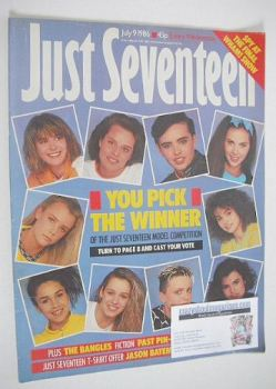 Just Seventeen magazine - 9 July 1986