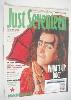 Just Seventeen magazine - 17 December 1986
