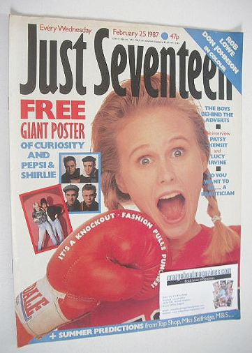<!--1987-02-25-->Just Seventeen magazine - 25 February 1987