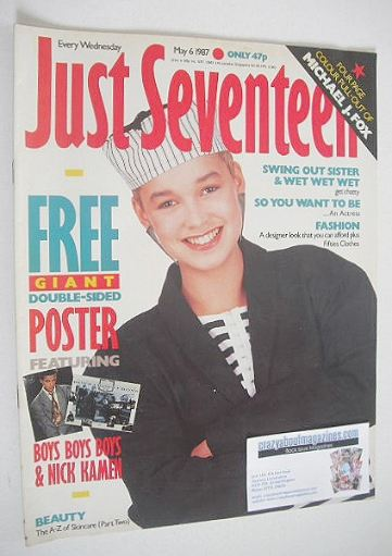<!--1987-05-06-->Just Seventeen magazine - 6 May 1987