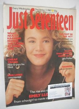 Just Seventeen magazine - 2 December 1987 - Emily Lloyd cover