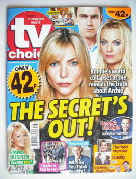 TV Choice magazine - Rita Simons, Scott Maslen, Samantha Janus cover (17-23 July 2010)