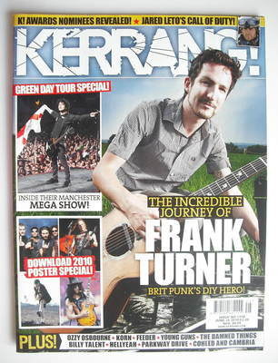 <!--2010-06-26-->Kerrang magazine - Frank Turner cover (26 June 2010 - Issu