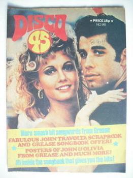 Disco 45 magazine - No 96 - October 1978 - John Travolta and Olivia Newton-John cover