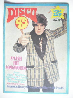 <!--1979-03-->Disco 45 magazine - No 101 - March 1979 - Den Hegarty cover