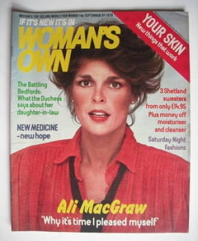 <!--1978-09-09-->Woman's Own magazine - 9 September 1978 - Ali MacGraw cover