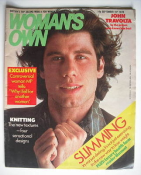 <!--1978-09-16-->Woman's Own magazine - 16 September 1978 - John Travolta cover