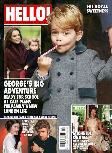 <!--2017-01-09-->Hello! magazine - Prince George cover (9 January 2017 - Is
