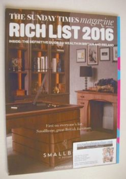 The Sunday Times magazine - Rich List 2016 (24 April 2016)