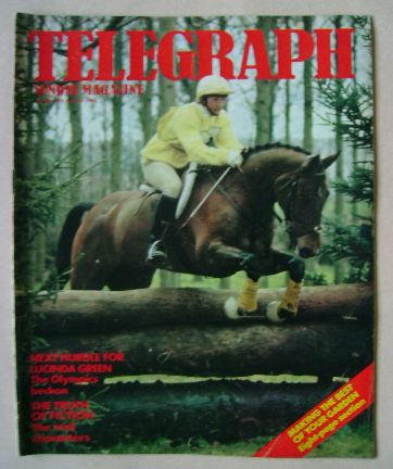 <!--1984-04-15-->The Sunday Telegraph magazine - Lucinda Green cover (15 Ap
