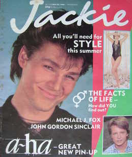 <!--1986-05-24-->Jackie magazine - 24 May 1986 (Issue 1168 - Morten Harket