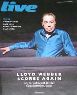 <!--2010-07-18-->Live magazine - Andrew Lloyd Webber cover (18 July 2010)
