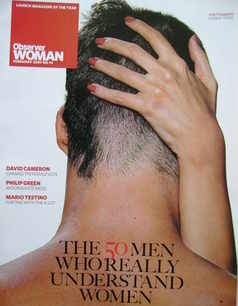 Observer Woman magazine - The 50 Men Who Really Understand Women cover (Feb