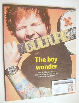 Culture magazine - Ed Sheeran cover (28 September 2014)