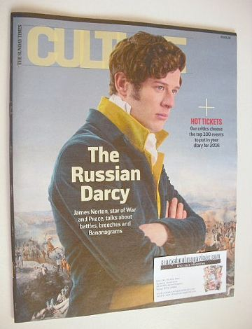 <!--2016-01-03-->Culture magazine - James Norton cover (3 January 2016)
