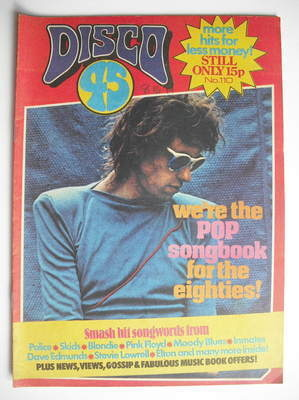<!--1979-12-->Disco 45 magazine - No 110 - December 1979 - Bob Geldof cover