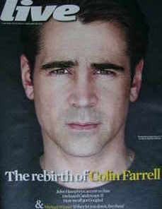 <!--2010-02-28-->Live magazine - Colin Farrell cover (28 February 2010)