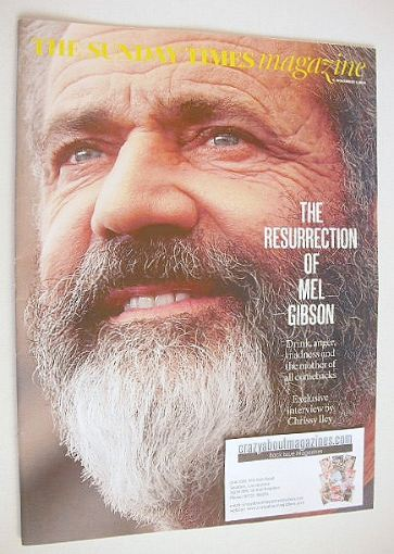 <!--2016-11-06-->The Sunday Times magazine - Mel Gibson cover (6 November 2