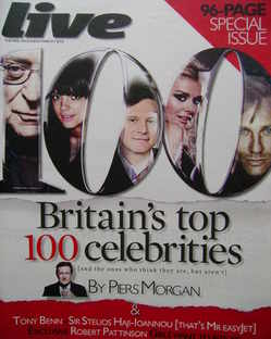 <!--2010-03-07-->Live magazine - Britain's Top 100 Celebrities cover (7 Mar