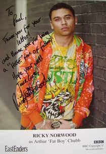 Ricky Norwood autograph (EastEnders actor)