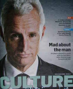 <!--2010-08-29-->Culture magazine - John Slattery cover (29 August 2010)