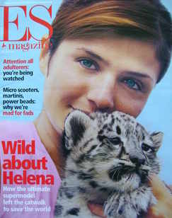 <!--2000-07-21-->Evening Standard magazine - Helena Christensen cover (21 J